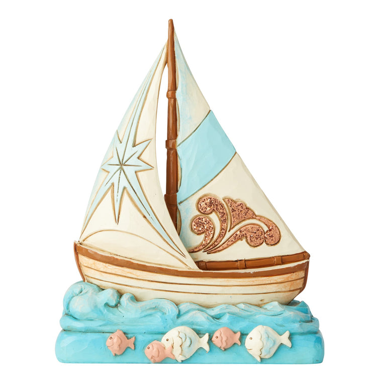 Coastal Boat Figurine - Heartwood Creek by Jim Shore