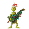 The Grinch by Jim Shore Grinch Holding Tree (Hanging Ornament)