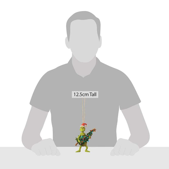 Grinch Holding Tree - Hanging Ornament - The Grinch by Jim Shore