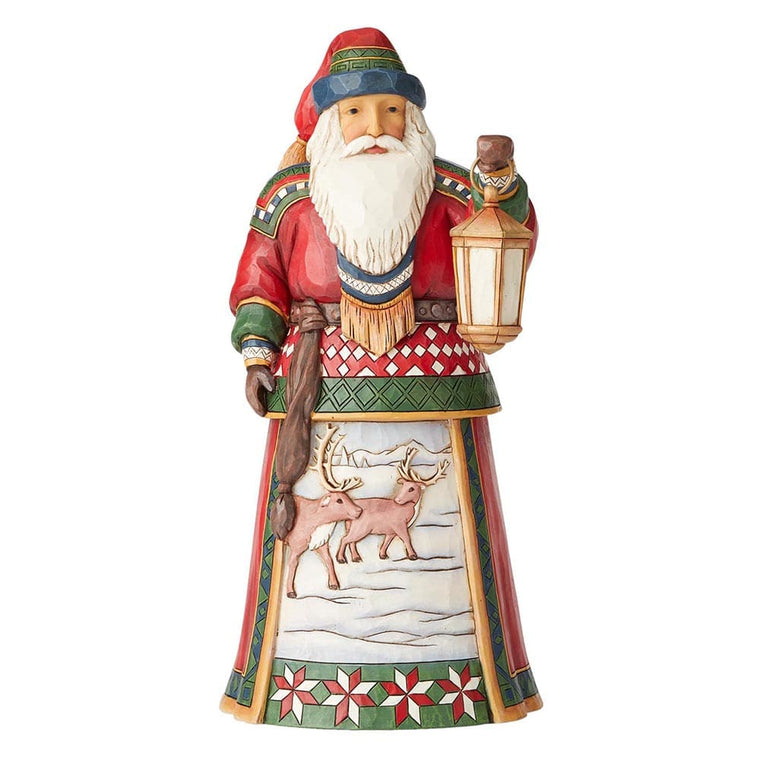 Blanketed In Winter Blessings - 12th Annual Lapland Santa Figurine - Heartwood Creek by Jim Shore