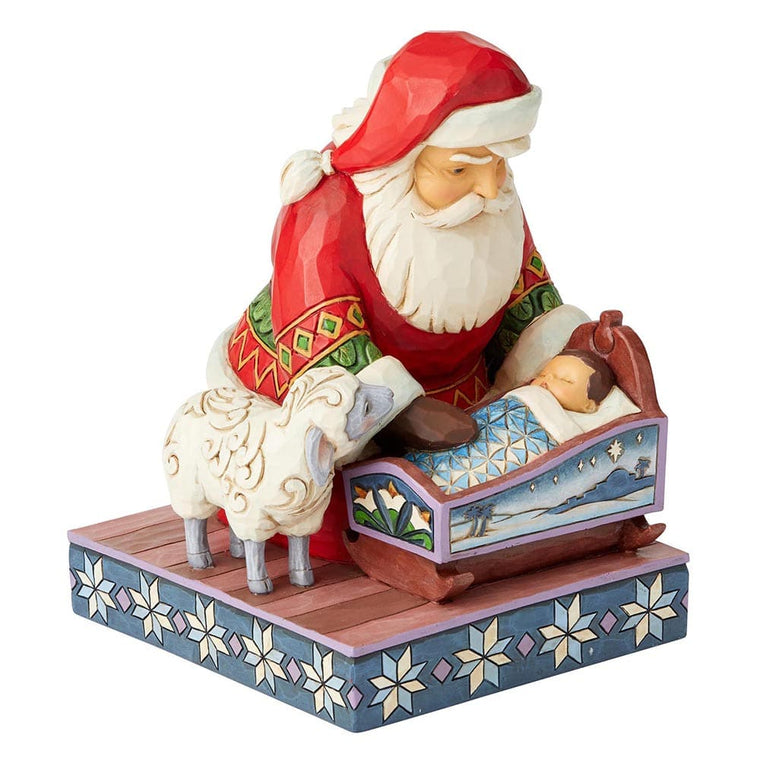 Heartwood Creek by Jim Shore Even Kings Need Tucking In (Santa with Baby Jesus Figurine)