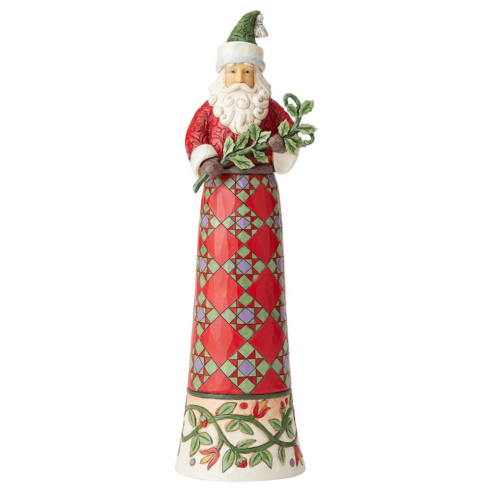 Making Spirits Splendid - Tall Santa with Branch Figurine - Heartwood Creek by Jim Shore