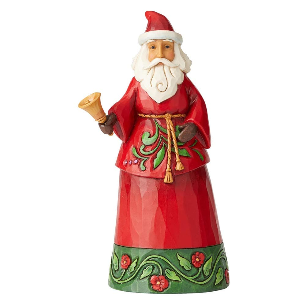 Sound The Christmas Bell - Santa with Bell Figurine - Heartwood Creek by Jim Shore
