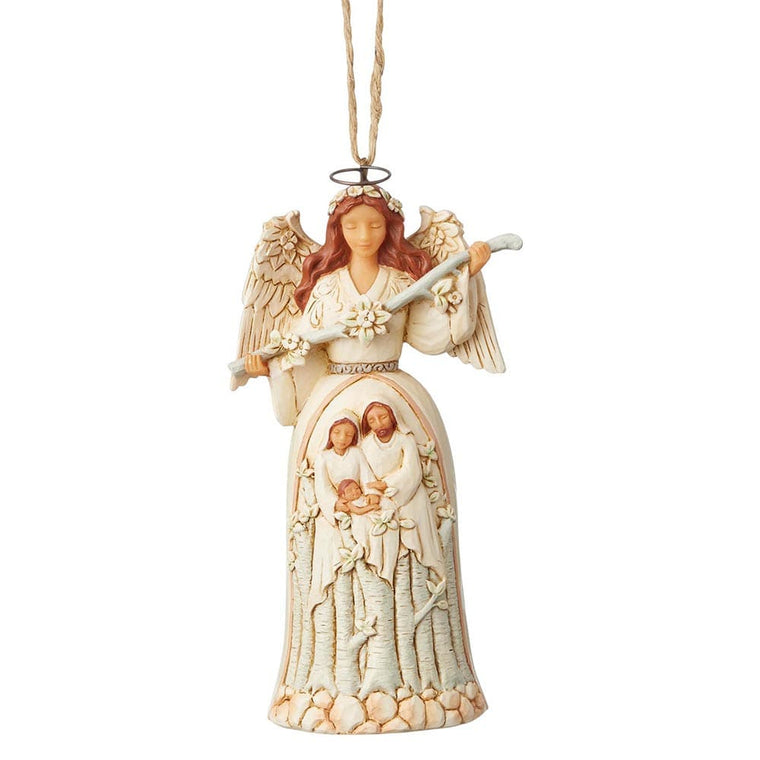 Heartwood Creek by Jim Shore White Woodland Nativity Angel (Hanging Ornament)