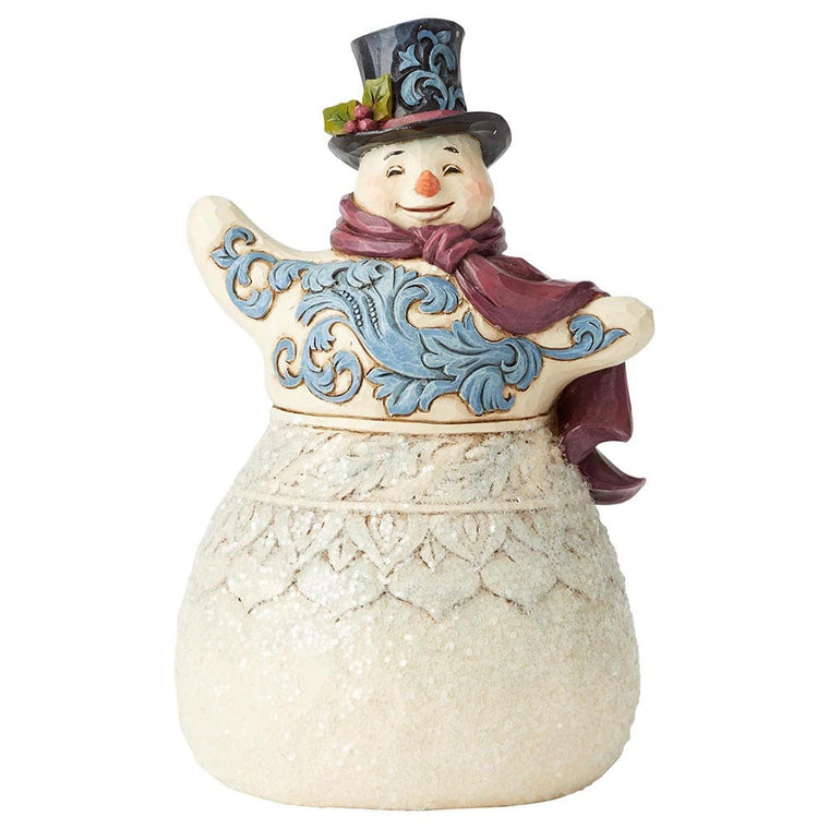 Frosty Formailty - Victorian Snowman with Top Hat Figurine - Heartwood Creek byJim Shore