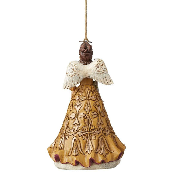Victorian Angel with Horn Hanging Ornament - Heartwood Creek by Jim Shore