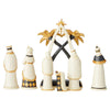 Let Us Adore Him - Black and Gold 7 Pc Nativity Set - Heartwood Creek by Jim Shore