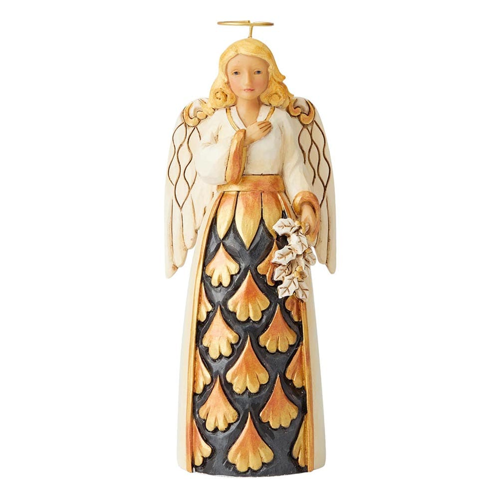 Generosity Of Spirit - Black and Gold Angel Pint-Sized Figurine - Heartwood Creek by Jim Shore