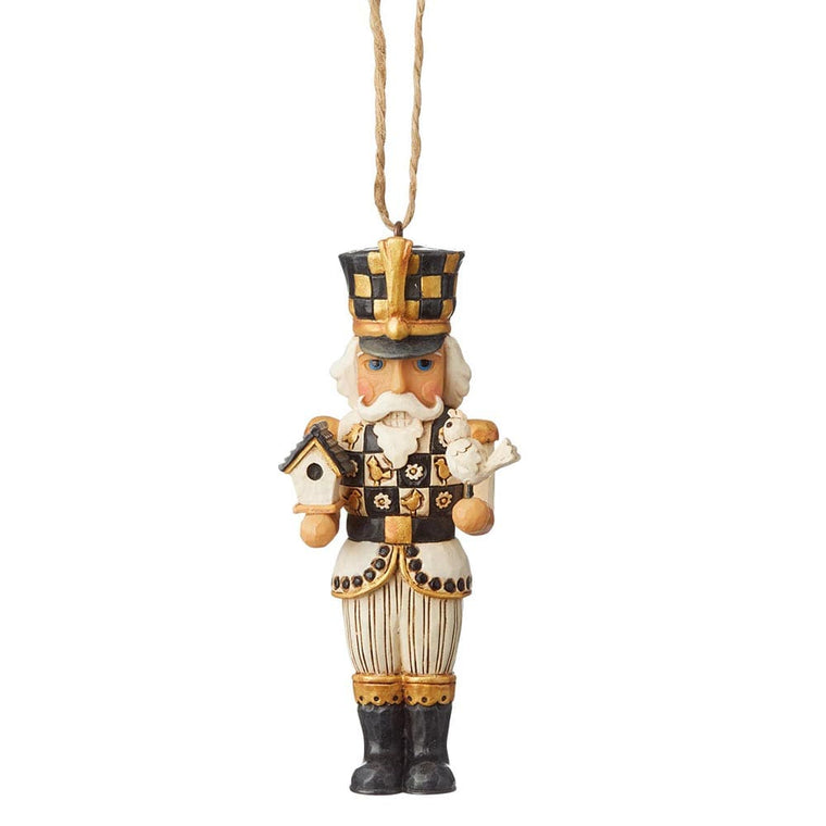 Black and Gold Nutcracker Hanging Ornament - Heartwood Creek by Jim Shore