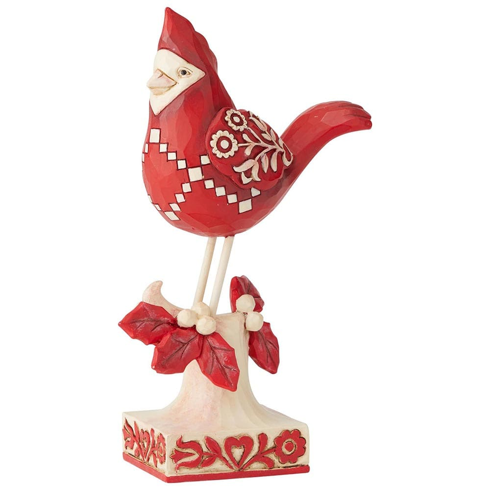 Heartwood Creek by Jim Shore Find Your Winter Song (Nordic Noel Cardinal Figurine)