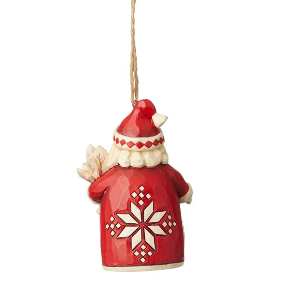 Nordic Noel Santa Hanging Ornament - Heartwood Creek by Jim Shore