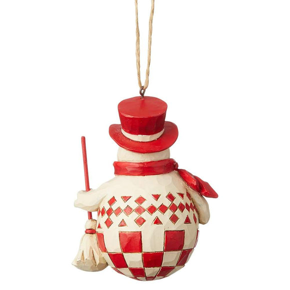 Nordic Noel Snowman Hanging Ornament - Heartwood Creek by Jim Shore