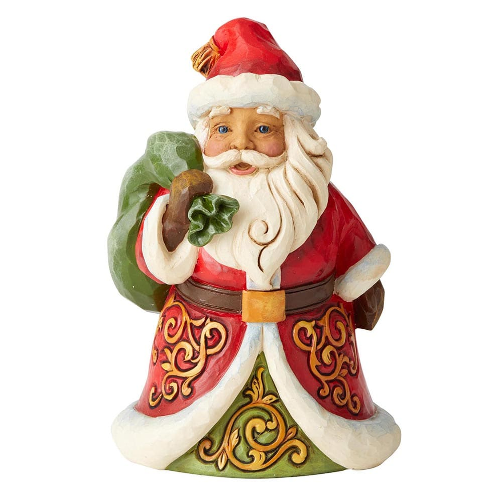 Be True and Believe - Santa with Bag Over Shoulder Pint-sized Figurine - Heartwood Creek by Jim Shore