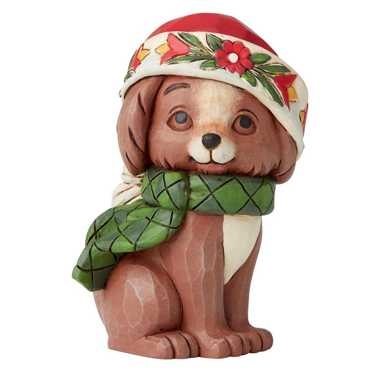 Christmas Puppy Mini Figurine - Heartwood Creek by Jim Shore