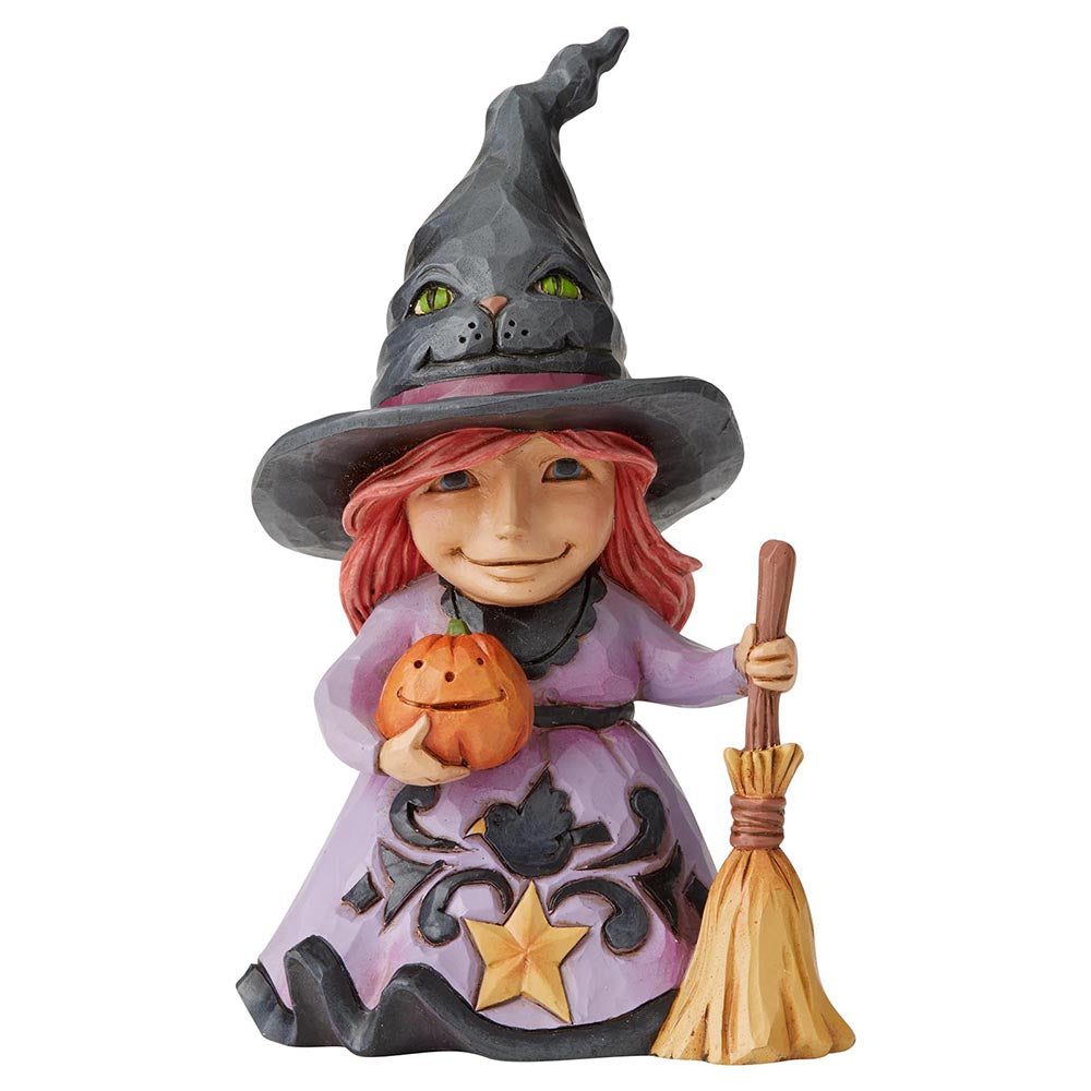 Heartwood Creek by Jim Shore Welcome The Magic (Friendly Witch Pint-Sized Figurine)