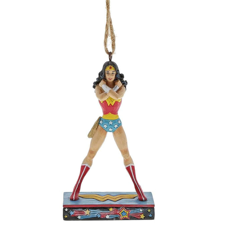 DC Comics by Jim Shore Wonder Woman Silver Age Hanging Ornament