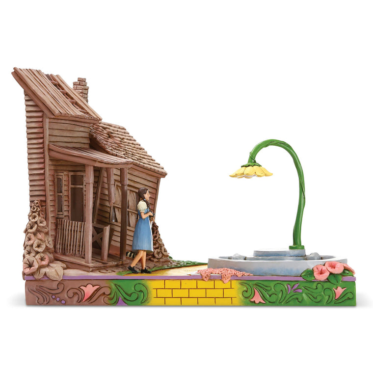 Wizard of Oz by Jim Shore The Beautiful Land of OZ (Dorothy Stepping Kansas to Oz Figurine)