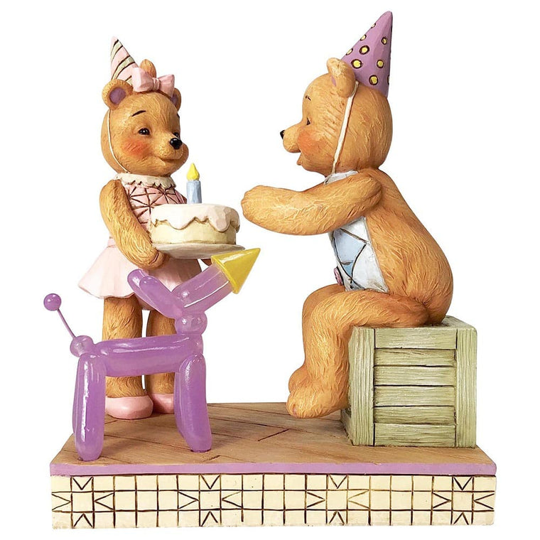 Button and Squeaky by Jim Shore Make A Wish (Button and Pinky Happy Birthday)