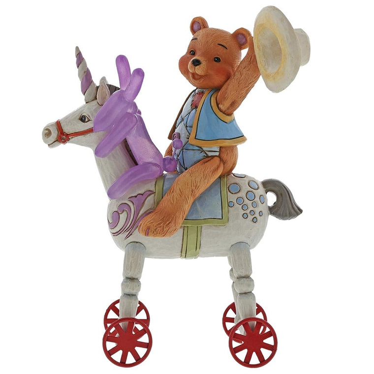 Button and Squeaky by Jim Shore Heigh Ho Squeaky (Button and Squeaky on Unicorn)