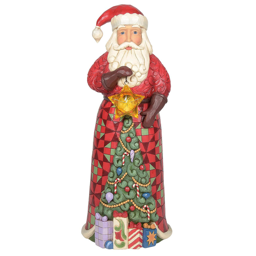 Santa Statue with Lighted Star Figurine Heartwood Creek by Jim Shore