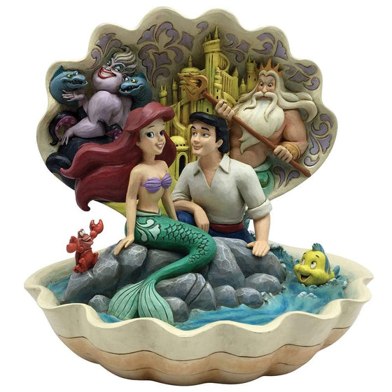 Seashell Scenario - The Little Mermaid Figurine - Disney Traditions by Jim Shore