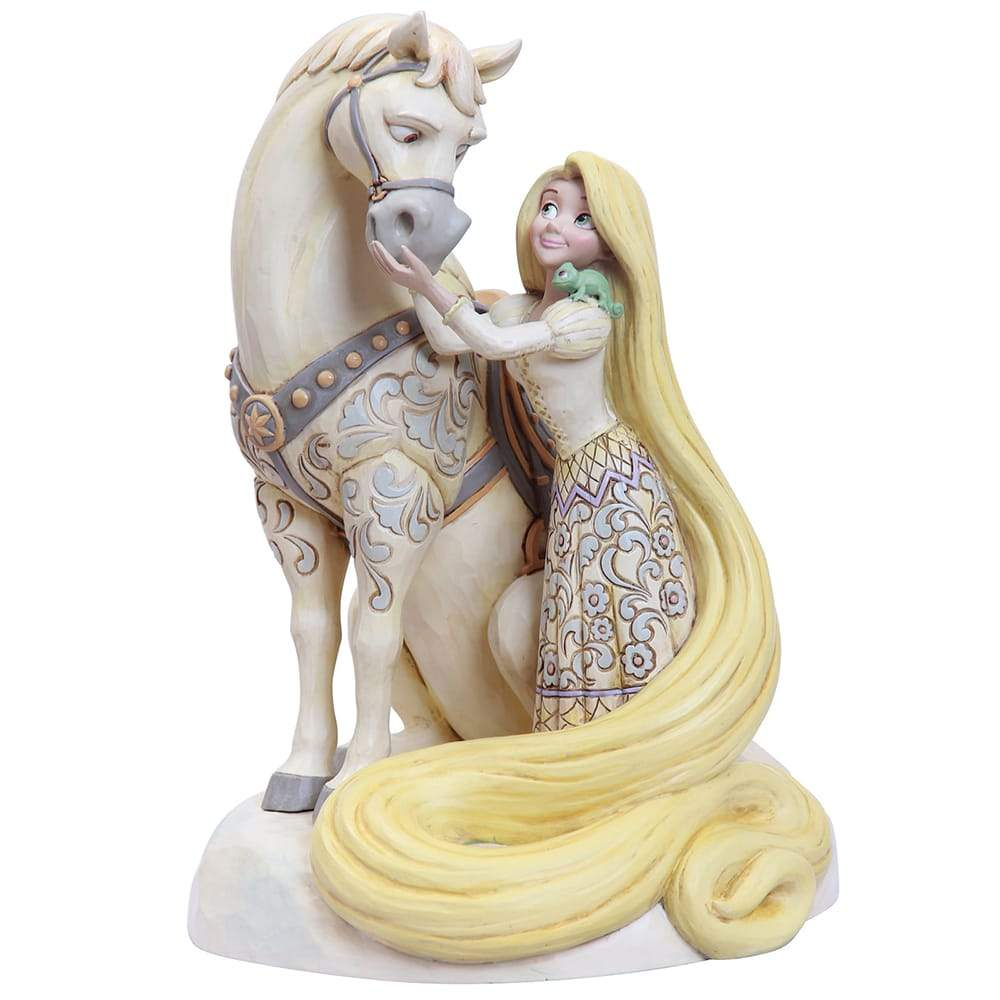 Innocent Ingenue - Rapunzel White Woodland Figurine - Disney Traditions by Jim Shore