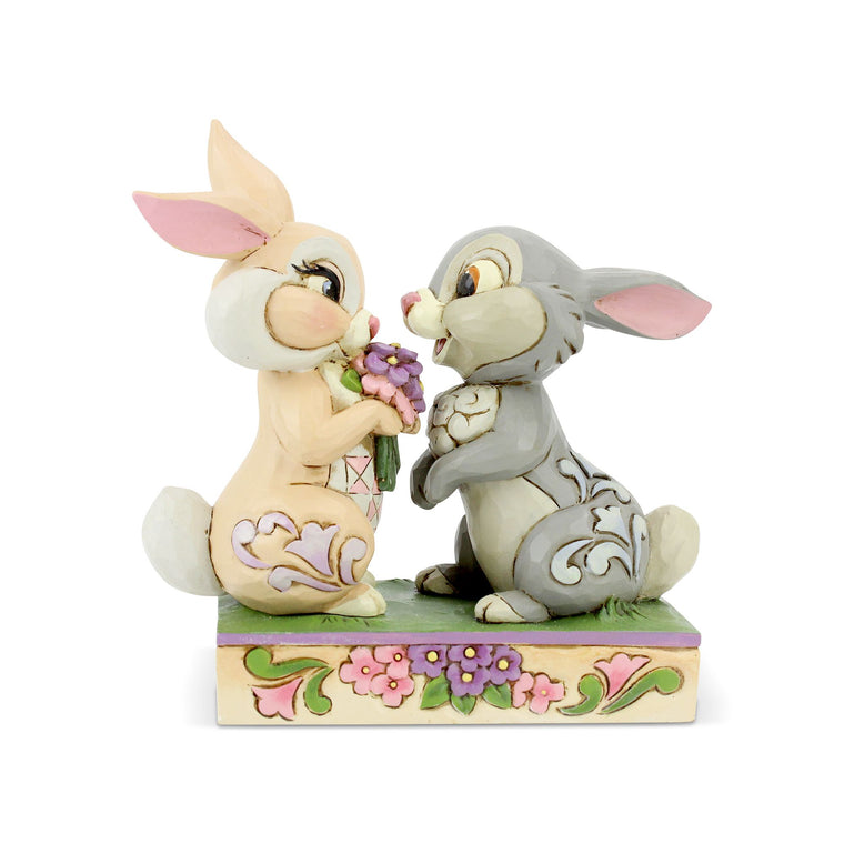 Bunny Bouquet - Thumper and Blossom Figurine - Disney Traditions by Jim Shore