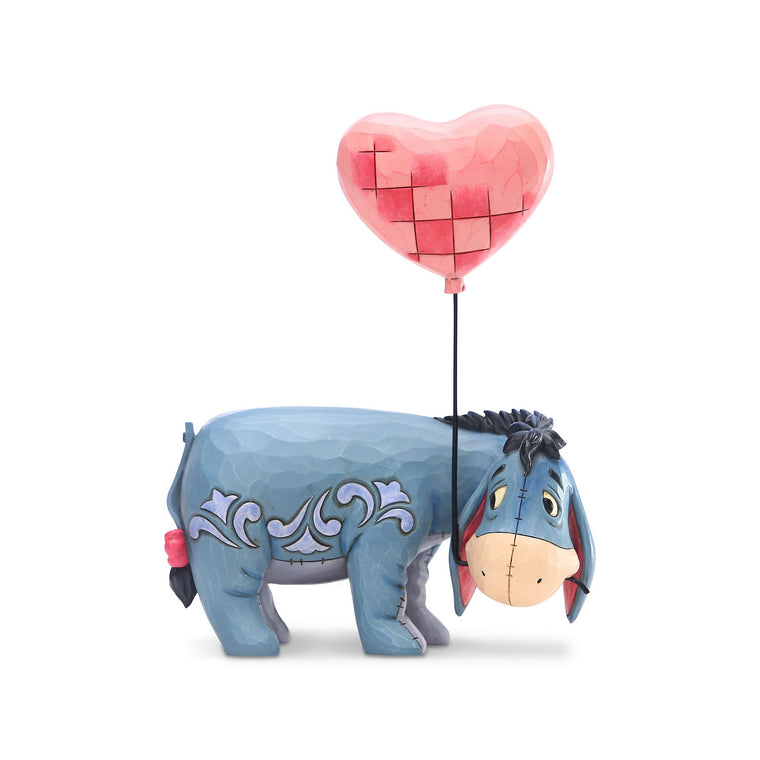 Eeyore with a Heart Balloon Figurine - Disney Traditions by Jim Shore