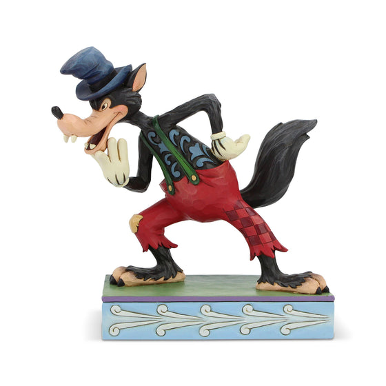 I'll Huff and I'll Puff! - Big Bad Wolf Figurine - Disney Traditions by Jim Shore