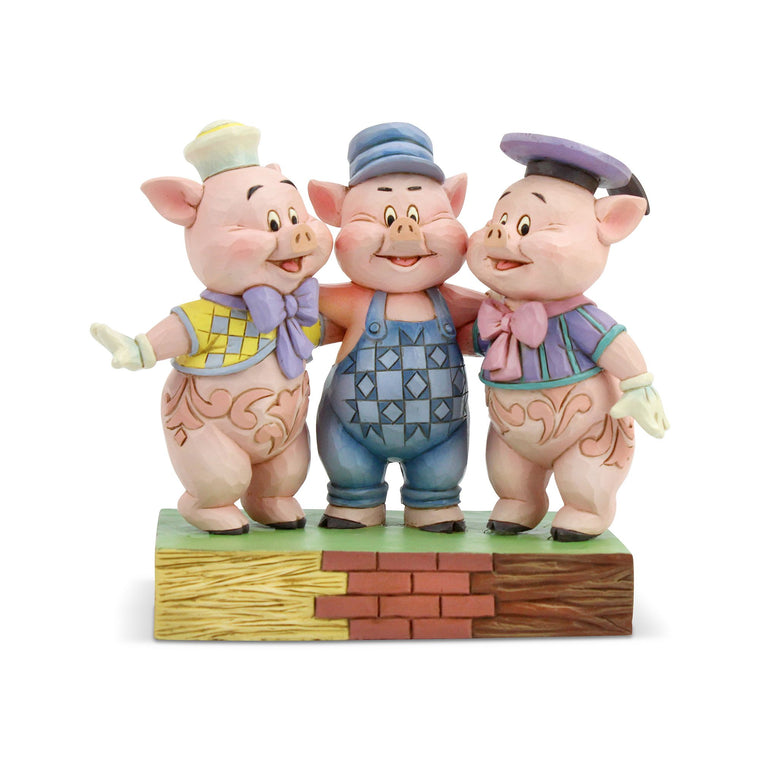 Squealing Siblings - Three Little Pigs Figurine - Disney Traditions by Jim Shore