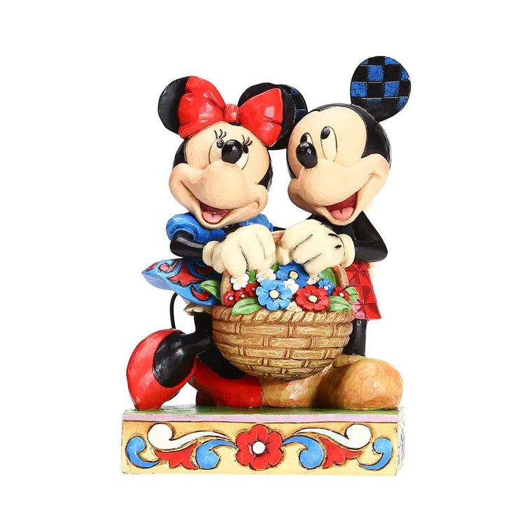 Mickey and Minnie with Flowers Figurine - Disney Traditions by Jim Shore
