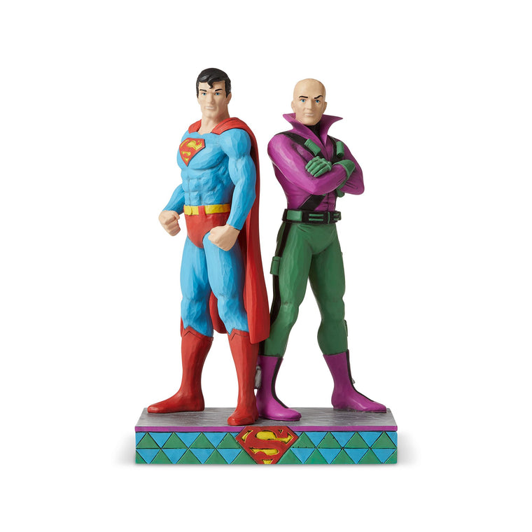 Superman and Lex Luthor Figurine - DC Comics by Jim Shore