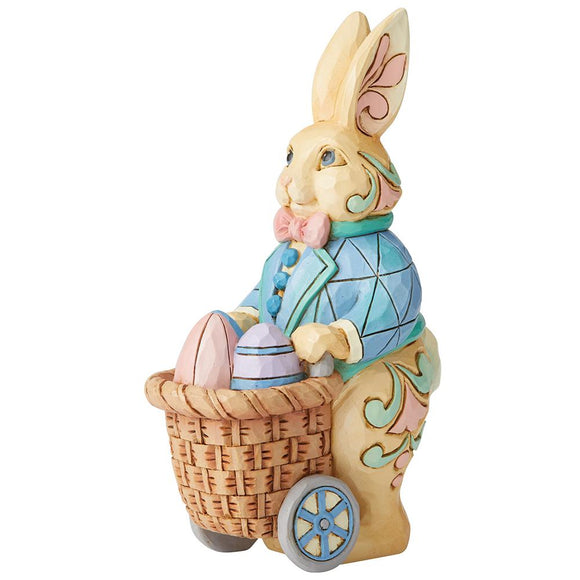 Eggs for Everybunny - Bunny Pushing Cart of Eggs Figurine - Heartwood Creek by Jim Shore