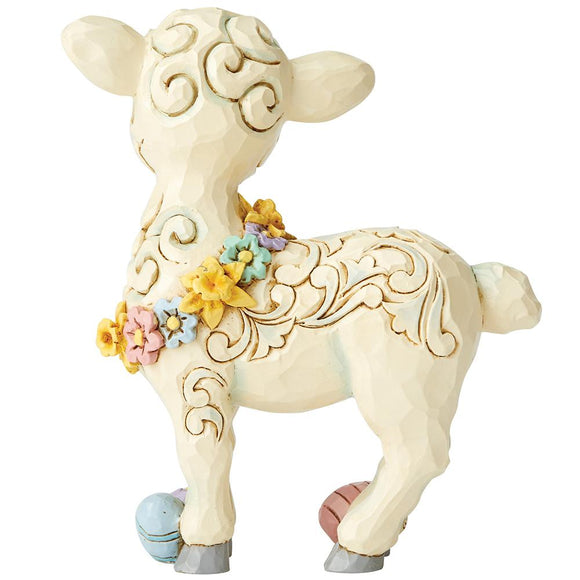 Lamb with Easter Eggs Pint-Sized Figurine - Heartwood Creek by Jim Shore