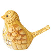Gold and Grey Bird Figurine - Heartwood Creek by Jim Shore