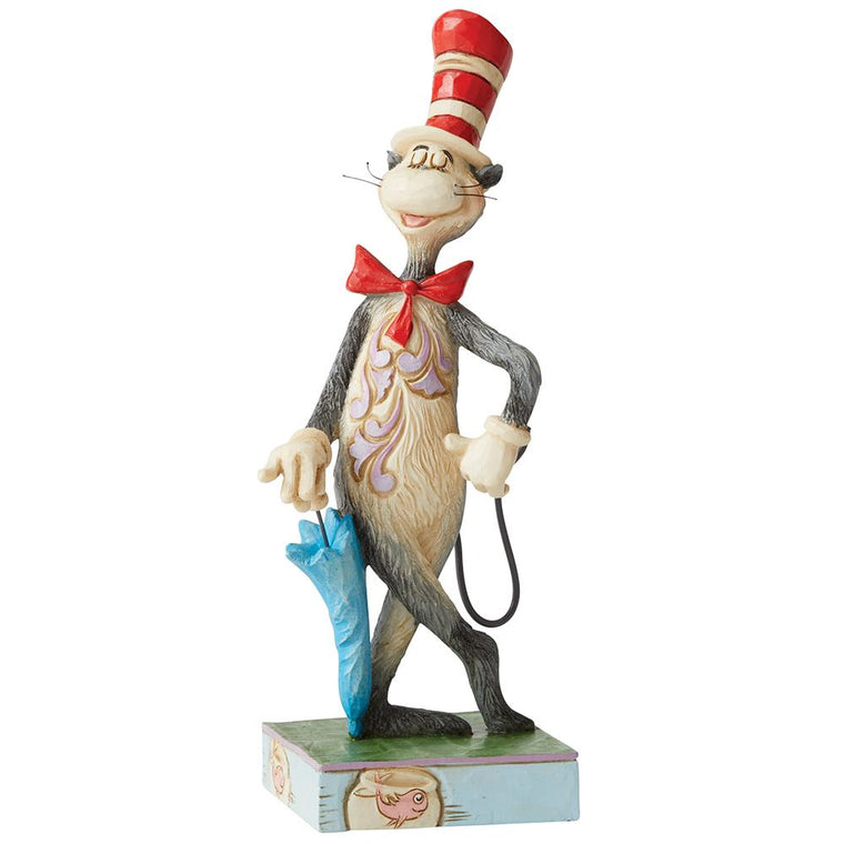The Cat in the Hat with Umbrella Figurine - Dr. Seuss by Jim Shore