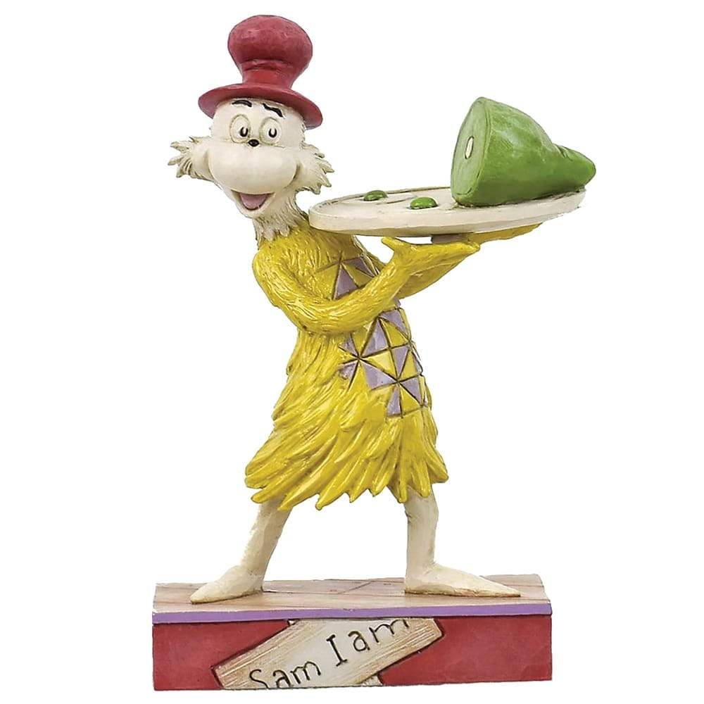 Sam Holding Plate of Green Eggs and Ham Figurine - Dr. Seuss by Jim Shore