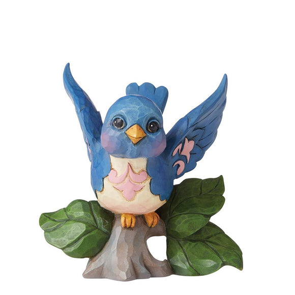 Bluebird Mini Figurine - Heartwood Creek by Jim Shore