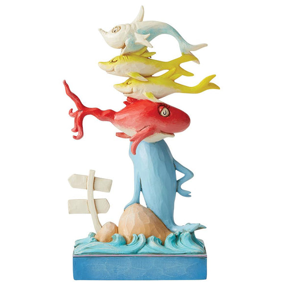 One Fish, Two Fish, Red Fish, Blue Fish Figurine - Dr. Seuss by Jim Shore
