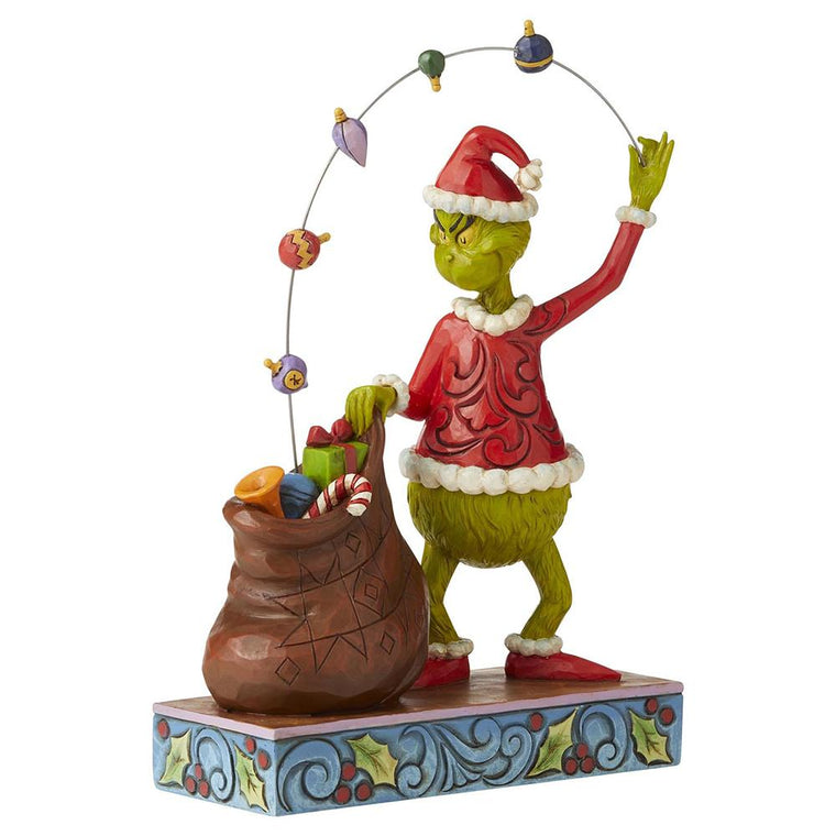 Grinch Juggling Ornaments Figurine - The Grinch by Jim Shore