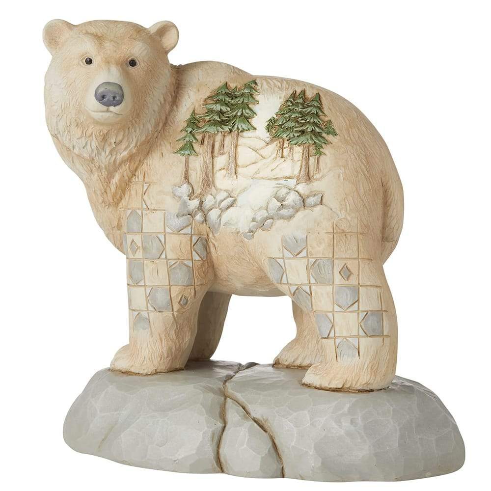 Wild and Free - Bear with Scene Figurine - Heartwood Creek by Jim Shore
