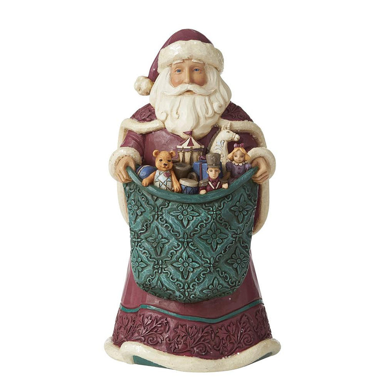 Rejoice In Giving (Santa Holidng Toy Bag Figurine)