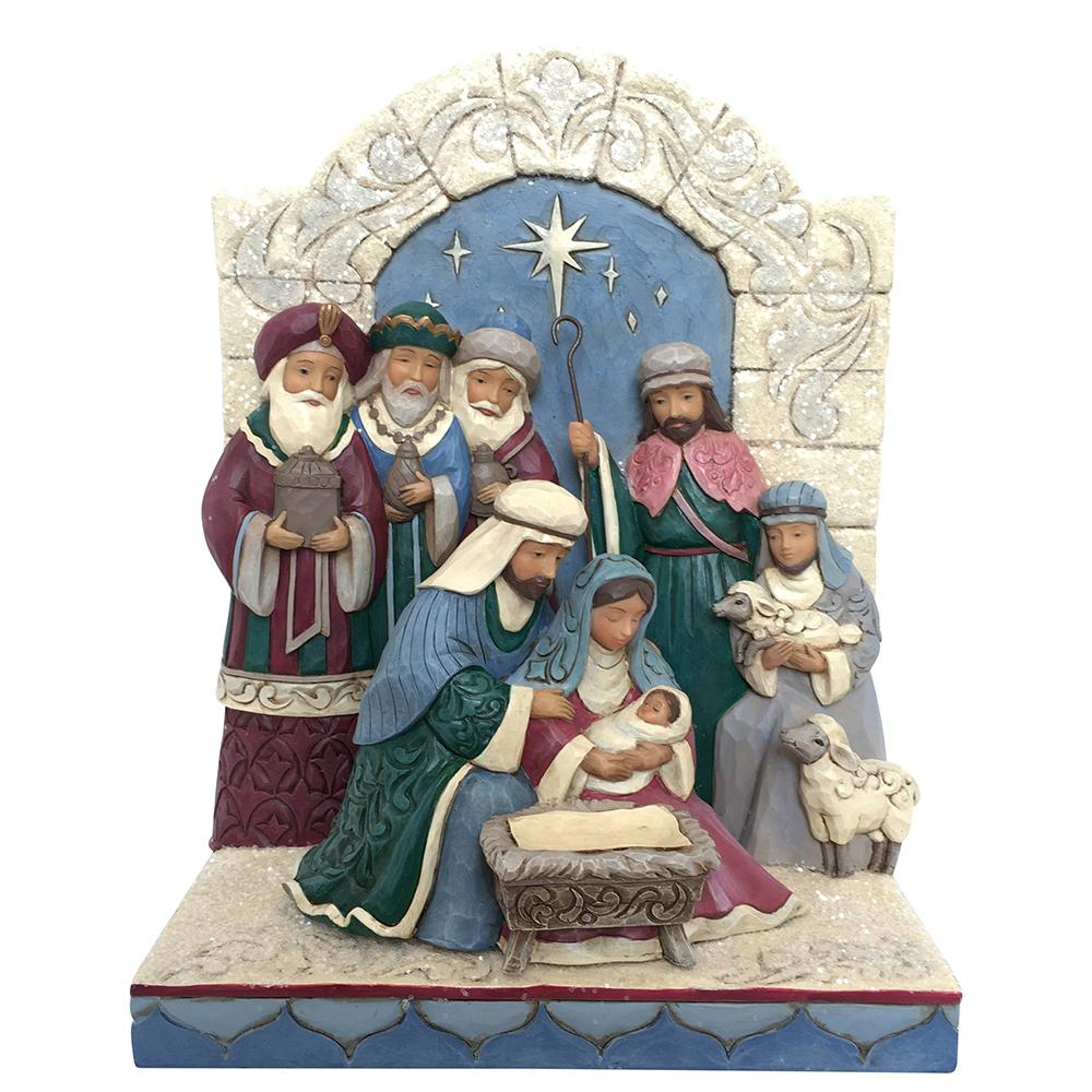 Unto Us A King Is Born - Holy Family Figurine