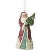 Santa Holding Tree (Hanging Ornament)t