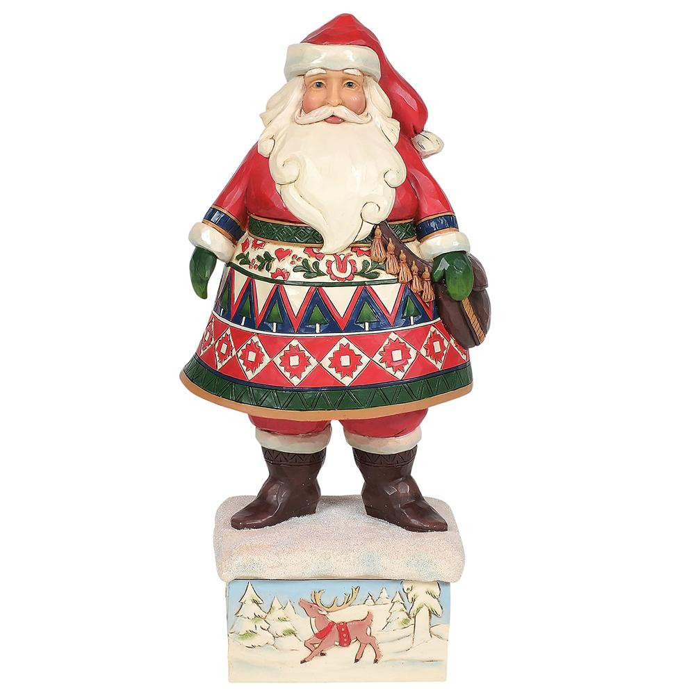 Feeling Festive In The Frost - 13th Annual Lapland Santa Figurine - Heartwood Creek by Jim Shore