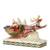 Here Comes Santa! (Santa in Sleigh Pulled By Reindeer) - Heartwood Creek by JimShore