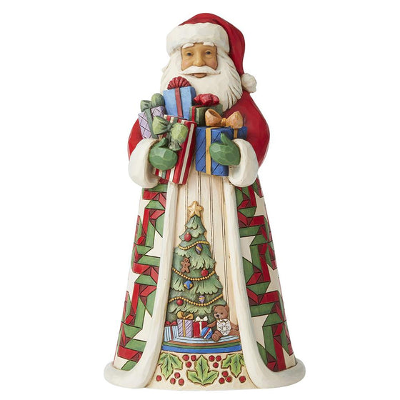 Blessed Is The Giver - Santa with Arms Full of Gifts Figurine - Heartwood Creekby Jim Shore