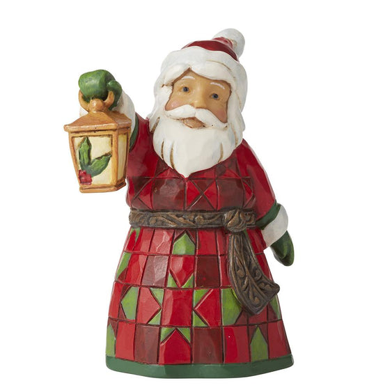 Santa with Lantern Mini Figurine - Heartwood Creek by Jim Shore