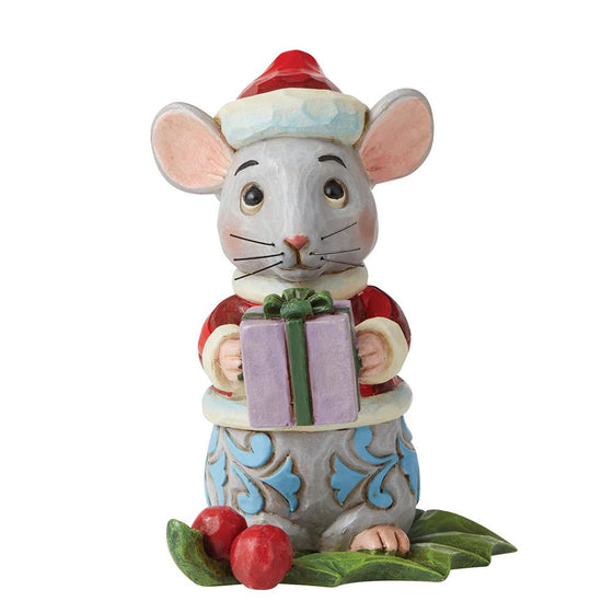 Christmas Mouse Mini Figurine - Heartwood Creek by Jim Shore
