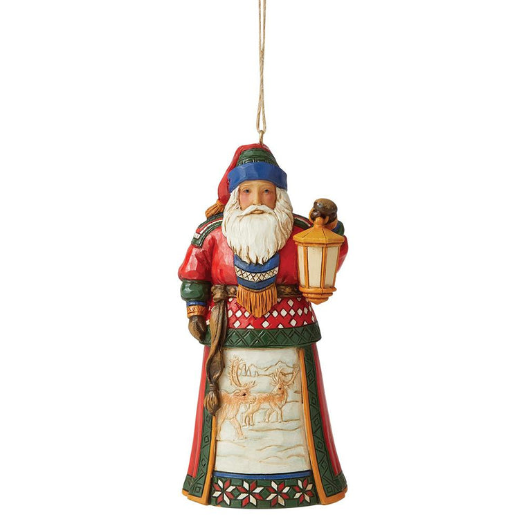 Lapland Santa with Lantern Hanging Ornament - Heartwood Creek by Jim Shore